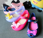 Children Girls Fancy Jelly Shoes Bowknow For melissa Kids Sandals size 15-18cm
