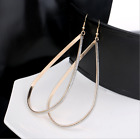 Exaggerated Big Oval Frosted Gold Sliver Ear Ring Earring Fashion Women Jewelry