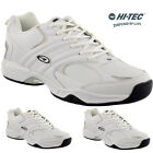 MENS HI TEC WHITE LEATHER WALKING WORK HIKING RUNNNG ANKLE SHOES TRAINERS LACE