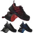 MENS ULTRA LIGHT WEIGHT STEEL TOE CAP WORK SAFETY TRAINERS SHOES BOOTS LACE UP S