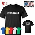Christian t-shirt Proverbs Bible Verse Jesus Christ Religion Gift Tee Sm - 3Xl