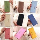 Fashion Women Ultrathin Wallet Frosted Texture PU Long Wallet Cash Purse Student