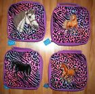 Girls HORSE LUNCH BOX~NWT~Insulated~Animal print~Back to School~Purple~Sparkles~