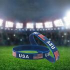1/3PCS Silica Gel USA Jewelry American Flag Bangle Silicone Bracelet Wristband