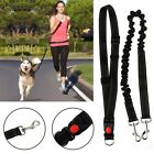 Dog Leash Lead Waist Belt Adjustable Hands Free For Jogging Walking Running UK