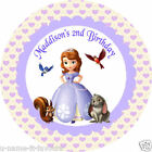 Personalised Sofia the First Self Adhesive Gloss Sticker Labels 2 sizes