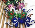 Sewing Fasteners knotting satin Flower Chinese Cheongsam Frogging Button 1pair