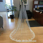 "White or Ivory Cathedral Length 118"" Wedding veil lace Bridal Accessories Veils"