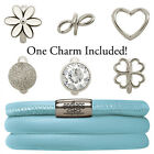 Endless Jewelry StarterKit Light Blue Triple Bracelet & Charm (Auth. Retailer)