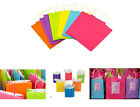 Colorful Kraft Paper Bags Matte Gift Bags  Handles Party Treat Favor Bags LOT