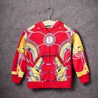 Kids Toddler Boys Clothes Superhero Hoodie Hooded Jacket Sweatshirt Outwear 2-8T