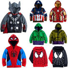 kids toddler boys clothes superhero hoodie hooded
