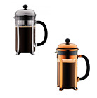 New Bodum Chambord Coffee Plunger Glass/Stainless Steel French Press 8 Cups 1L