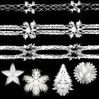 DP Christmas Foil Ceiling Decorations Garlands, Tree, Star, Snowflake - WHITE