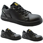 MENS NEW MAXSTEEL LACEUP STEEL TOECAP LEATHER TRAINER SHOE BOOT SIZE 3 TO 14