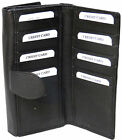 Genuine Cowhide Leather Ladies RFID Wallet w Separate Cards Section #7503R CAN