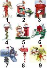 Christmas Post Mail Box Design Large Sticky White Paper Stickers Labels NEW