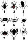 Spider Halloween Small or Large Sticky White Paper Stickers Labels NEW