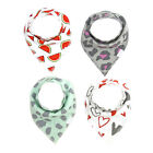 4pcs Kids Baby Feeding Head Scarf Towel Bibs Boy Girl Bandana Saliva Dribble Bib