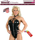 PVC Ring Neck Body Clubwear Goth Fetish Cyber Punk Rocky Black Red Pink (S1202)