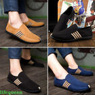 2017 HOT flats Canvas Loafer Slip on Casual Sneakers Driving Oxfords Men shoes