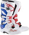 ALPINESTARS TECH 7 WHITE BLUE RED ADULT MX MOTOCROSS BOOTS