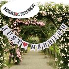 JUST MARRIED Banner Wedding Engagement Party Bunting Garland Photo Prop Bridal