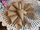 Empty Hessian Confetti Cones Hessian Wedding Favours Barn Wedding Decoration