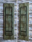 WINE RACK Rustic Wood Wall Antique Red White Blue Distressed 5 Bottle Vertical