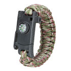 Outdoor Portable Survival Tool Rope Bracelet Compass Knife Whistle Gear Flint