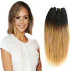 Straight Ombre Brazilian Straight Human Hair Extensions Hair Weft 1 bundle 50g