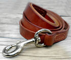 Image of Dog Leash Leather Pet Walking New Brand Auburn Leathercrafters Town Lead Brown