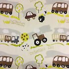 "Prestigious Countryside Children Fabirc, 54"" 137cm Wide 100% Cotton, Tractors"