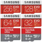 Samsung EVO PLUS + 64GB 128GB 256GB micro SD SDHC SDXC TF Memory Card Phone