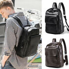 Men's Faux Leather Business Backpack Rucksack Daypack College School Book bag