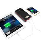 US 50000mAh Portable LCD Power Bank 2 USB External LED Battery Charger For Phone