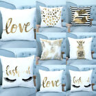 New Gold Printed Pillow Case Sofa Car Cushion Cover Home Hotel Decor US Seller