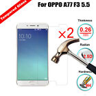 2Pcs 100% Genuine Real Tempered Glass Film Screen Protector For OPPO A77 F3 5.5