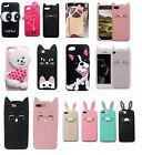 3D cute luxury protective case soft tpu silicone cartoon for iphone 5s 6s 7 plus