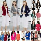 Women Business Blazer Suit Slim One Button Jacket Casual Coat Solid Outwear Tops