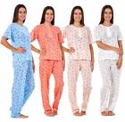 Ladies Pyjama Sets Floral Printed Short Sleeve Everyday Nightwear Lounge PJ's