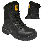 MEN LIGHTWEIGHT STEELTOE CAP WORK COMBAT MILITARY MOTOR POLICE SAFETY BOOTS SHOE