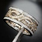 White Topaz 925 Silver Woman Man Jewelry Engagement Wedding Band Ring Size 6-10