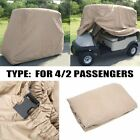 2/4 Passenger Golf Cart Cover Fits EZ GO, Club Car, Yamaha, Storage W Zipper MX