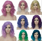 Synthetic Heat Resistant 35cm Short Ombre Fancy Curly Cosplay Stylish Party Wig
