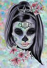 PRETTY MEXICAN SKULL CANVAS #70 GRUNGE STYLE SHABBY CHIC WOODEN FRAME CANVAS ART