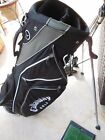 Callaway Warbird Stand Carry Golf Bag Black Gray with White Trim