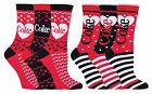 Coca Cola - 3 Pairs Womens Funky Heart Striped Colourful Gift Box Cotton Socks £7.99  on eBay