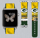 Green Bay Packers Apple Watch Band 38 40 42 44 mm IWatch PU Leather Strap 180 $24.99 USD on eBay