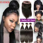 9A Brazilian Virgin Human Hair Weave + 360 Lace Frontal Closure Pre Plucked B652